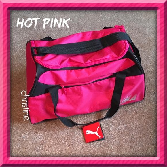 fd01dead4a Puma Bags   Newhot Pink Gymduffle Bag   Poshmark